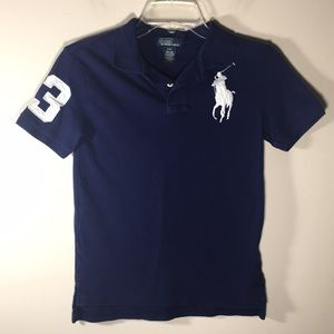 Polo Ralph Lauren large pony logo shirt kids 8